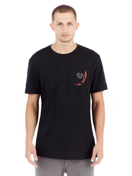 RED MOON ELONGATED MENS TEE