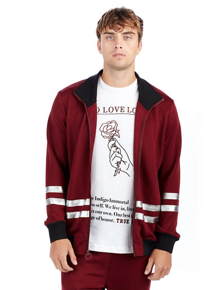 MENS RACER STRIPE  TRACK JACKET