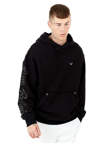 EMBROIDERED PULLOVER MENS HOODIE