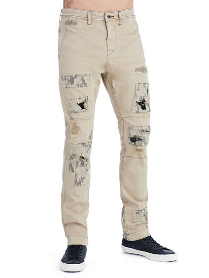 MENS CAMO PATCH LOGAN SLIM PANT