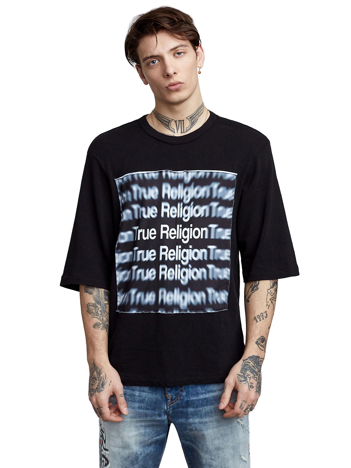1b4c5c63f MENS OVERSIZED 3D GRAPHIC TEE - True Religion