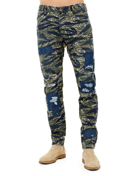 MENS MIXED CAMO LOGAN SLIM PANT