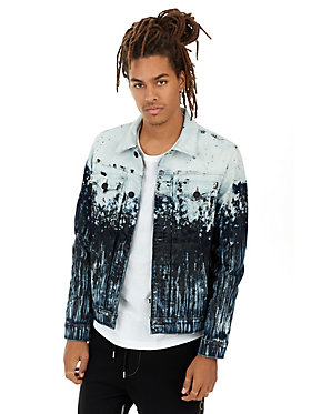 MENS PAINT SPLATTER DYLAN RENEGADE DENIM JACKET