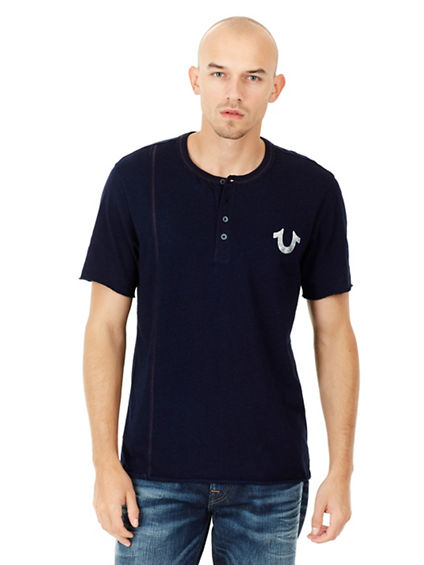 RAW EDGE MENS HENLEY SHIRT