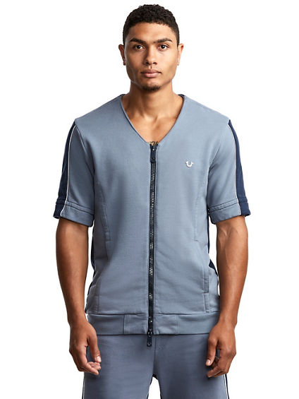 MENS ZIP UP BASEBALL ACTIVE TOP