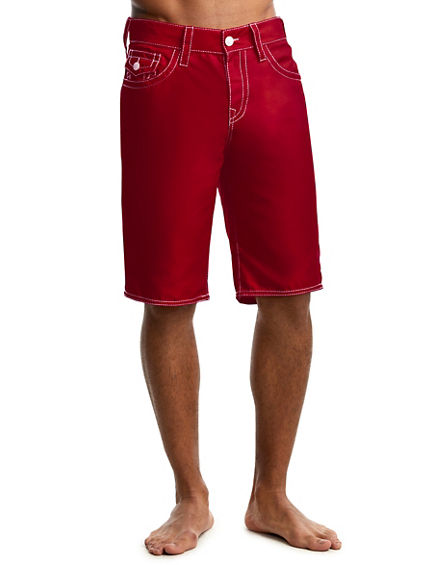 MENS BOARD SHORT WITH CONTRAST BIG T