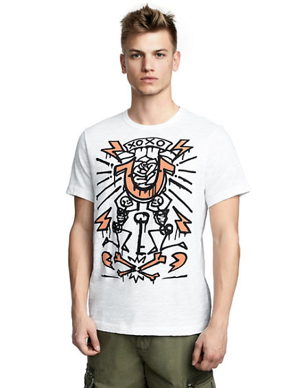 MENS SKETCH GRAFFITI GRAPHIC TEE