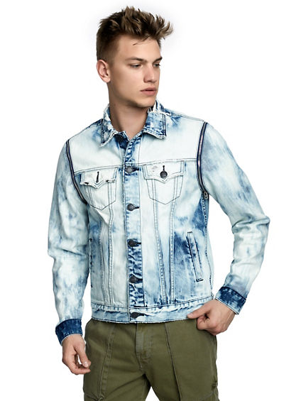 MENS ACID WASH 2 IN 1 DANNY DENIM JACKET