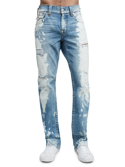 STRAIGHT FIT ACID BLOTCH JEAN