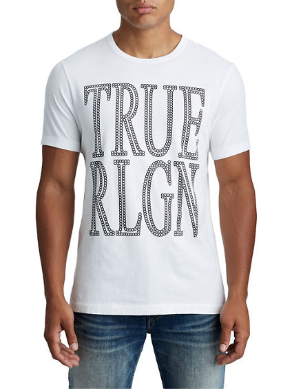 MENS CRAFTED CHAIN LOGO TEE