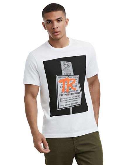 MENS GRAFFITI TAG SIGN GRAPHIC TEE