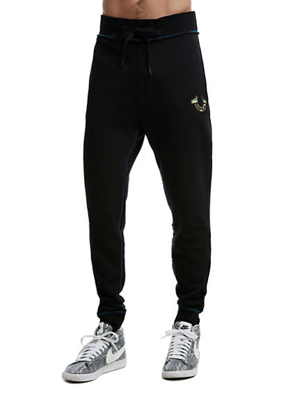 MENS RAW EDGE STAINED GLASS SWEATPANT