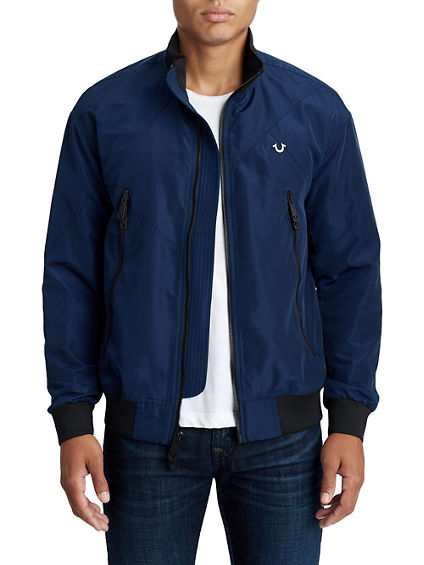 MENS FRAGMENTED NYLON BOMBER JACKET