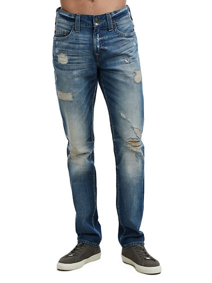 MENS DISTRESSED GENO SLIM JEAN