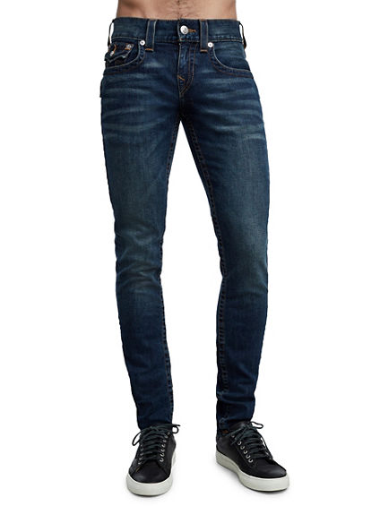 SKINNY FIT ORANGE STITCH JEAN