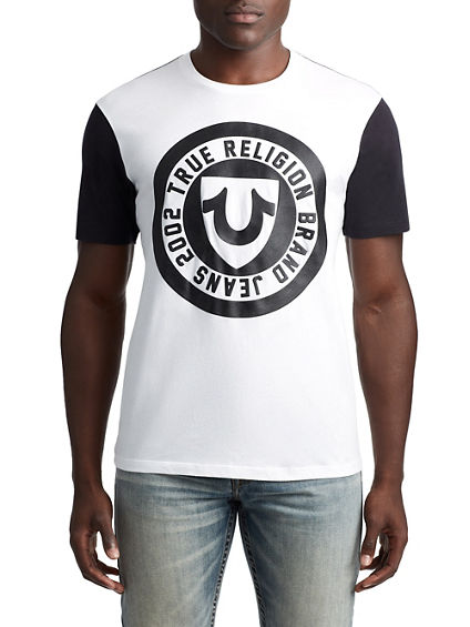 MENS CREST FOOTBALL GRAPHIC TEE
