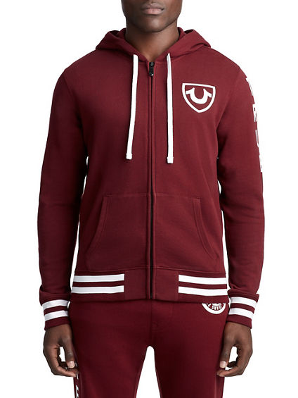 MENS COLLEGIATE CREST ZIP UP HOODIE