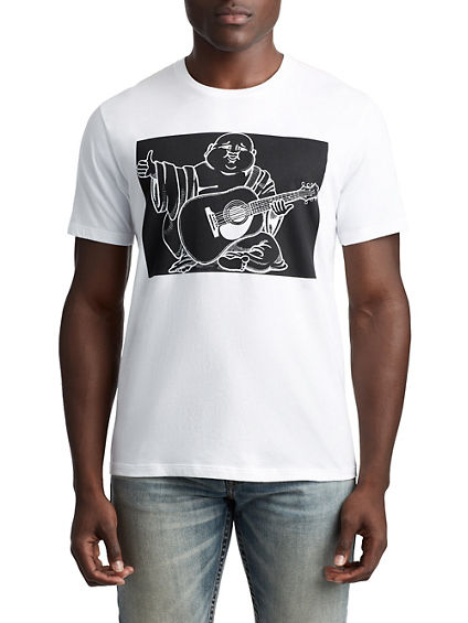MENS INVERSE BUDDHA GRAPHIC TEE