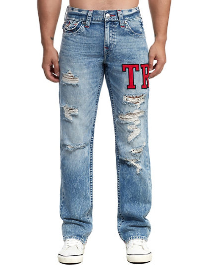 MENS VARSITY EMBROIDERY RICKY STRAIGHT JEAN W/ FLAP