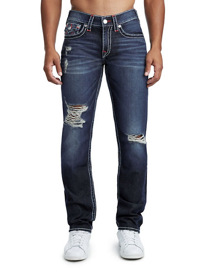 MENS DESTROYED BIG T SLIM JEAN W/ FLAP