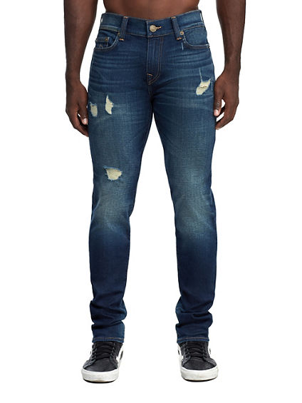 MENS DISTRESSED ROCCO SKINNY JEAN W/ RENEGADE POCKET