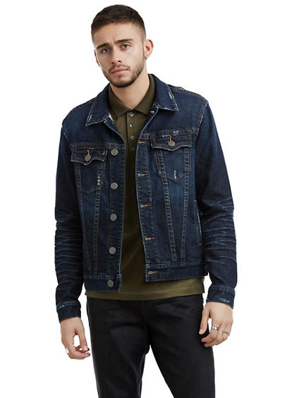 MENS DISTRESSED DANNY DENIM JACKET