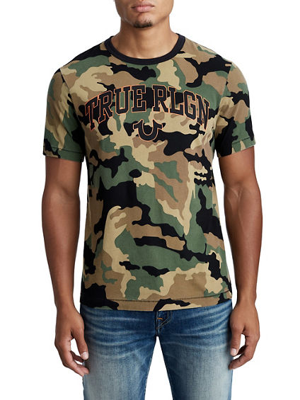MENS CAMO LOGO GRAPHIC TEE