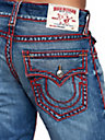 MENS SILK CHAINSTITCH RICKY STRAIGHT JEAN W/ FLAP