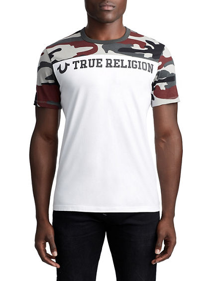MEN'S CAMO TEAM LOGO TEE