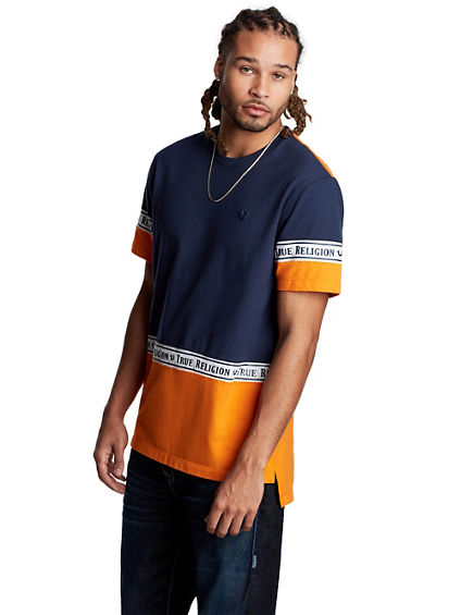 MENS COLORBLOCK PANEL TEE