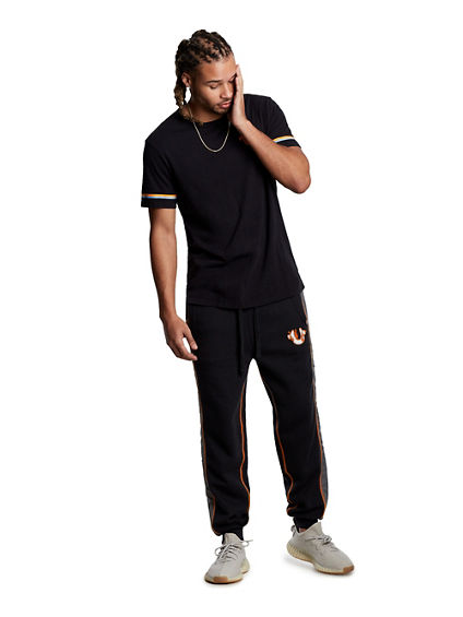 CONTRAST PATCH SLIM SWEATPANT