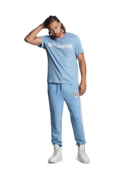 MENS CHENILLE PATCH SLIM SWEATPANT