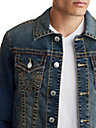 MENS MULTI BIG T TRUCKER DENIM JACKET