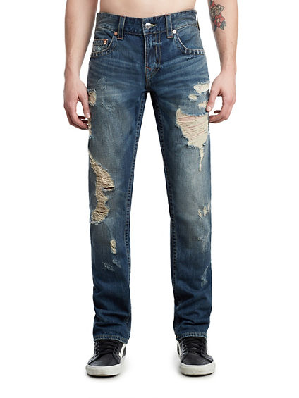 MENS DISTRESSED SLIM JEAN