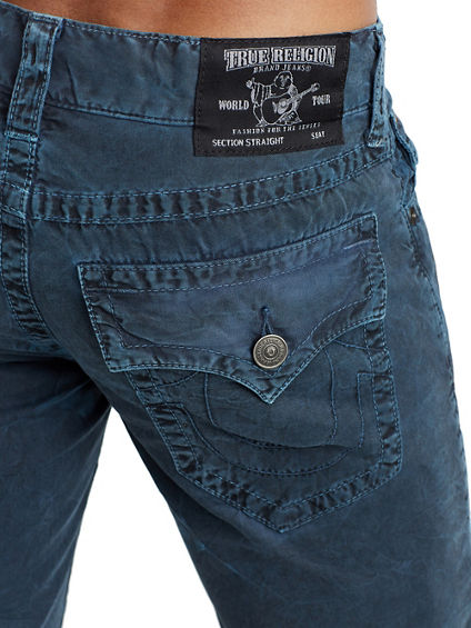 MENS CRINKLE STRAIGHT JEAN W/ FLAP