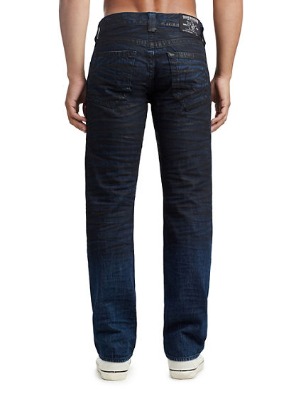 MENS CRINKLE COATED STRAIGHT JEAN