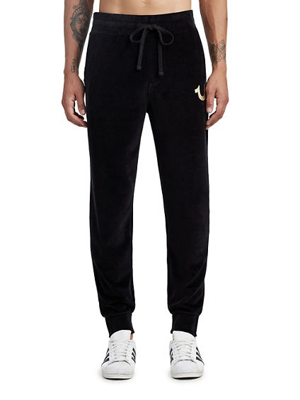 MENS VELOUR TAPERED JOGGER
