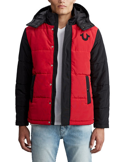 MENS HOODED PUFFER JACKET