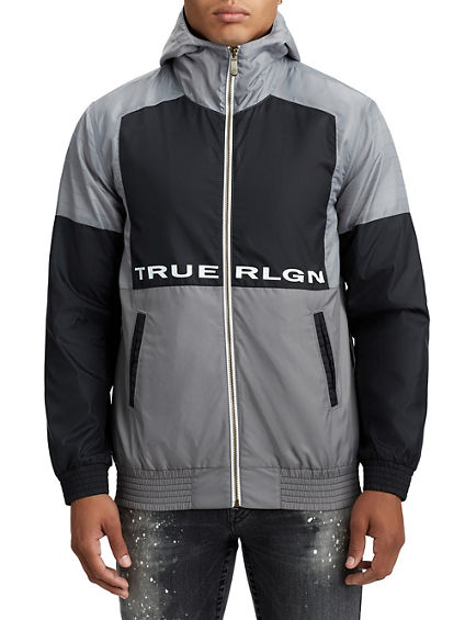 MENS INSULATED CONTRAST WINDBREAKER JACKET
