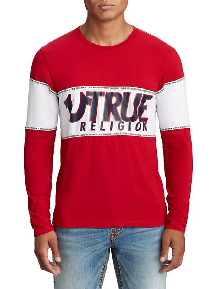 MENS LONG SLEEVE STRIPED TEE