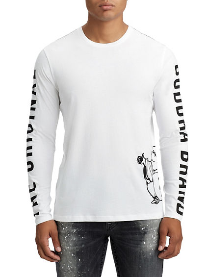 MENS LONG SLEEVE BUDDHA TEE