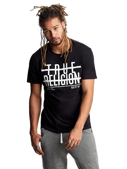 MENS STRIKE THROUGH GRAPHIC TEE