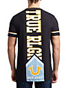 MENS ELONGATED COLLEGE GRAPHIC TEE