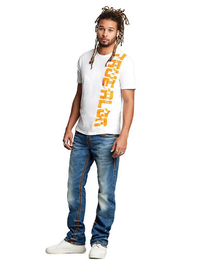 MENS ROPE STITCH STRAIGHT JEAN W/ FLAP