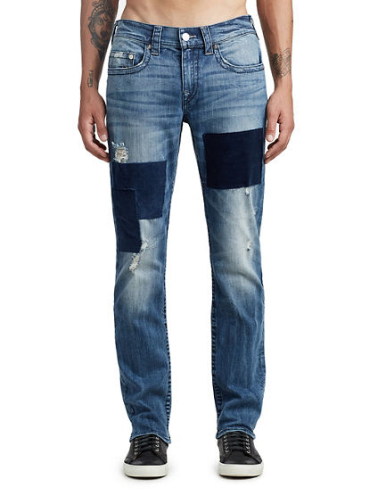 MENS DISTRESSED CORDUROY SLIM JEAN