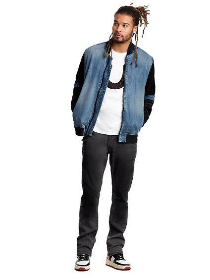 MENS QUILTED STRAIGHT JEAN W/ FLAP
