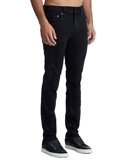 MENS EMBROIDERED ROCCO SKINNY JEAN