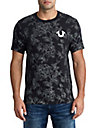 MENS METALLIC FLORAL GRAPHIC TEE