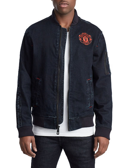 MENS TR X MANCHESTER UNITED DENIM BOMBER JACKET