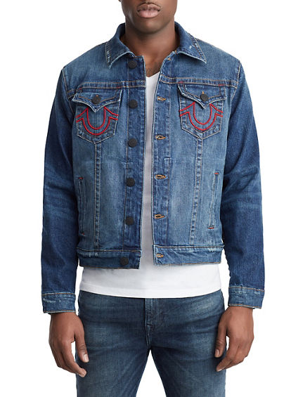 a62cf4257fc08 MENS TR X MANCHESTER UNITED EMBROIDERED DENIM JACKET